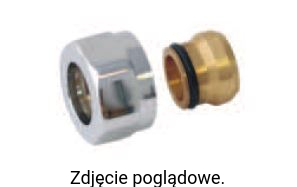 Adapter SCA M22x1,5 na miedź ∅15, satyna TERMA TGAST006