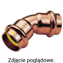 Łuk dwukielichowy 45° 22mm PRESS GAS CONEX PG5041 0220000